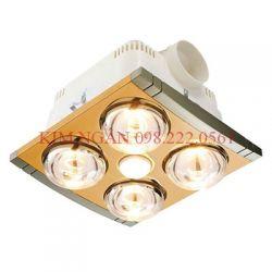 Đèn Sưởi Nhà Tắm Âm Trần Braun Kohn 4 Bóng + Quạt thông gió (KP04G) (Vàng)(Vàng)