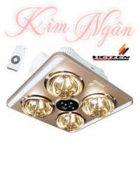 Đèn sưởi nhà tắm Heizen âm trần 4 bóng KN HE9 ( điều khiển)