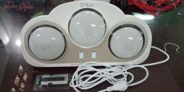 Đèn sưởi nhà tắm Dobidos NS8-1 3 bóng màu trắng