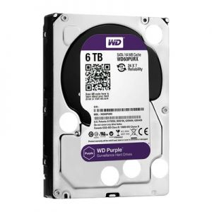 "WD HDD Purple 6TB 3.5"" SATA 3/ 64MB Cache/ IntelliPower (5400RPM) (Màu tím)"