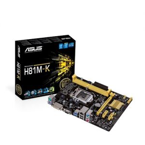 Mainboard  Asus H81M-K (Chipset Intel H81/ Socket LGA1150)