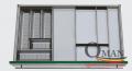 Khay chia thìa dĩa ACDX- 450C