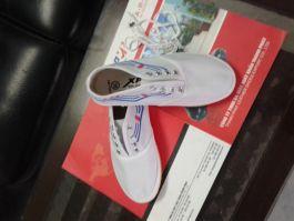 Giày ba ta trắng TP