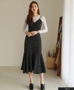 Váy liền thân Styleonme Hàn Quốc 80427