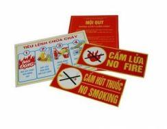 Bộ nội quy tiêu lệnh PCCC, Cấm lửa, Cấm thuốc ( 4 tấm )