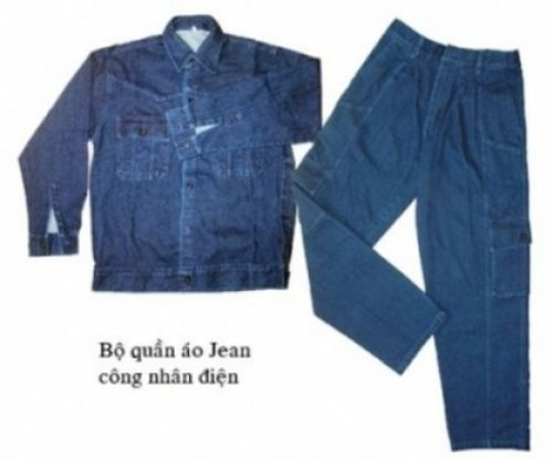 Quần áo jean điện lực