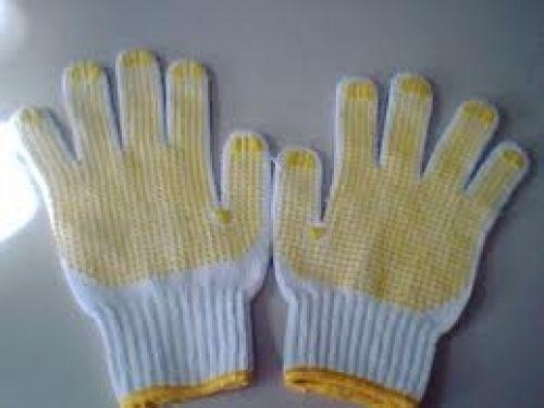 Găng tay sợi hạt nhựa chống trơn