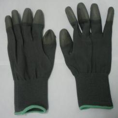 Găng tay phủ PU đầu ngón màu đen
