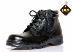 Giày da mũi sắt DH cao cổ