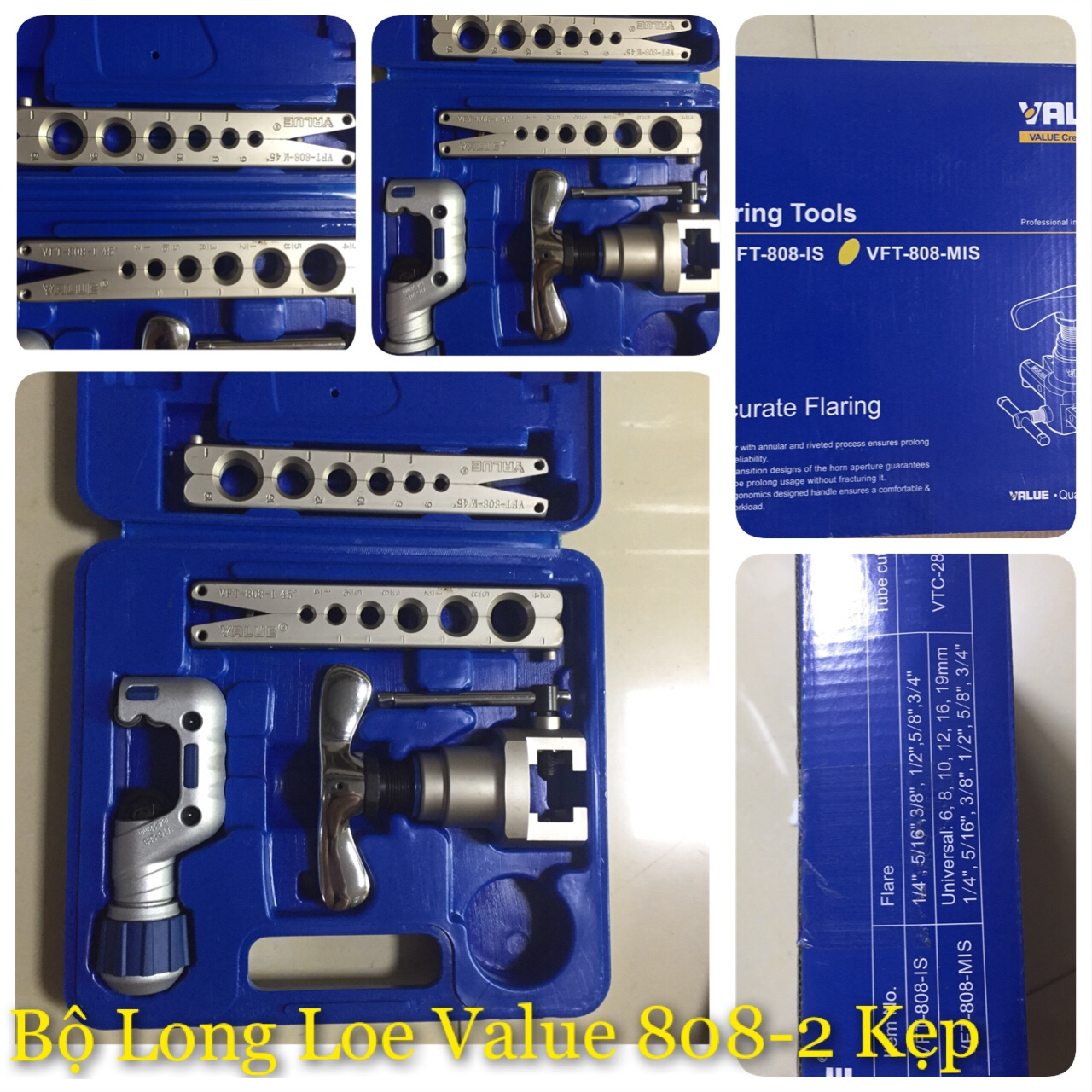 Bộ long loe Value 808 2 kẹp