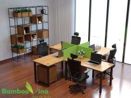 Bộ bàn làm việc 4 chỗ - BLV1206-4