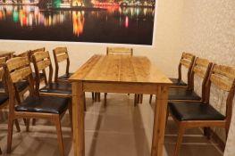 Bộ bàn ghế ăn 6 ghế BGA01