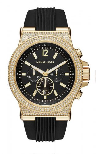 MICHAEL KORS DYLAN BLACK DIAL LADIES CHRONOGRAPH CRYSTAL MK8556, 48MM
