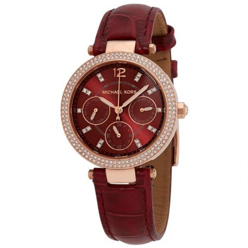 MICHAEL KORS Mini Parker Red Dial Laies Watch