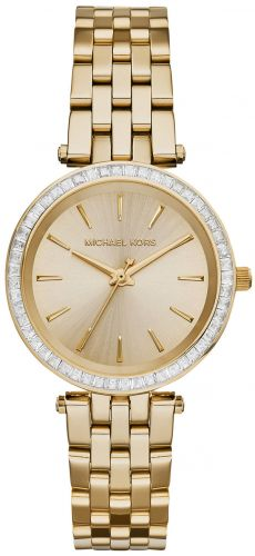 MINI DARCI GOLD TONE STAINLESS STEEL LADIES WATCH 33MM