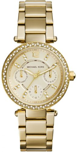 MINI PARKER CHRONOGRAPH GOLD-TONE STAINLESS STEEL BRACELET LADIES WATCH 33MM
