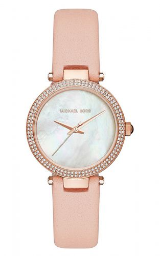 MINI PARKER PINK LEATHER LADIES WATCH MK2590, 33MM