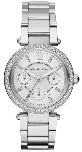 PARKER MULTI-FUNCTION SILVER LADIES WATCH 33MM
