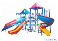 Cầu trượt trẻ em, Cầu trượt 2 khối nhà CT42