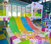 Thi công lắp đặt khu vui chơi liên hoàn cho trẻ em