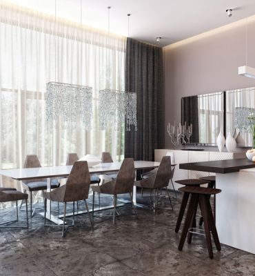 Các mẫu nội thất phòng ăn đơn giản hiện đại