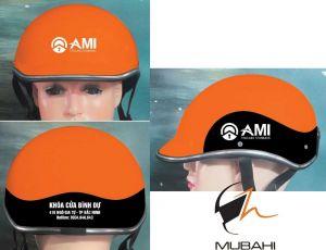 Mũ bảo hiểm quảng cáo Ami