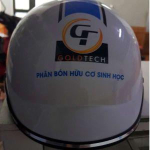 Mũ bảo hiểm quảng cáo Gold Tech