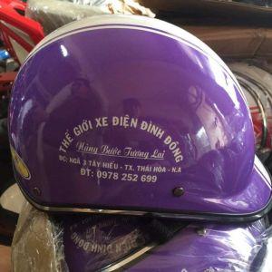Mũ bảo hiểm quảng cáo Thế Giới Xe Điện Bình Đông