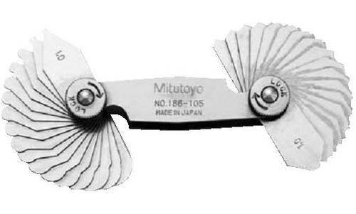 Dưỡng đo bán kính 186-105 (1-7mm/34 lá)