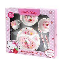 Bộ đồ ăn cho bé Hello Kitty Lock&Lock LKT461S6