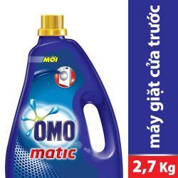 Nước giặt OMO Matic cho máy giặt cửa trước dạng chai 2,7kg