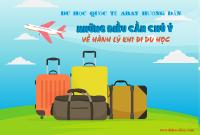Hành lý cần chuẩn bị khi sang Hàn Quốc du học là gì