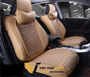 Áo ghế da ô tô Lumi màu Kem