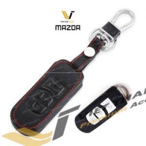 Bao da chìa khóa da đen đỏ theo xe BT50
