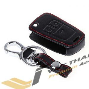 Bao da chìa khóa đen chỉ đỏ theo xe Cruze 14