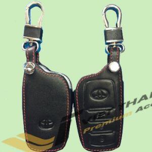Bao da chìa khóa da đen đỏ theo xe Fortuner 17