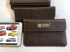 Ví đựng giấy tờ xe logo ABIC