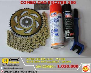 Combo Nhông xích đĩa tải 14/44 và Bộ vệ sinh rửa, dưỡng xích