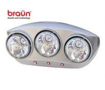 Đèn sưởi nhà tắm Braun (3 bóng)