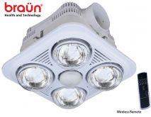 Đèn sưởi nhà tắm Braun (4 bóng âm trần)