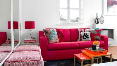 Sofa đỏ