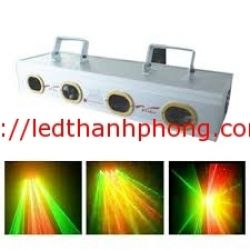 Đèn laser 4 cửa 3 màu
