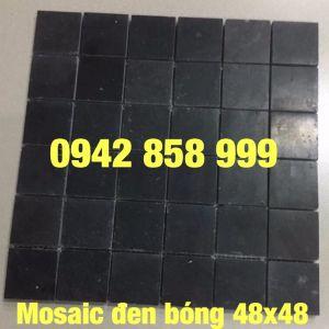 Đá dán đen bóng 48x48 - Mosaic đen bóng 48x48