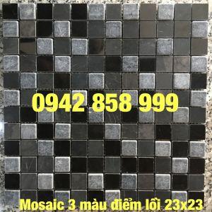 Đá dán 3 màu điểm lồi 23x23 - Mosaic 3 màu điểm lồi 23x23