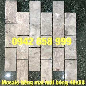 Đá dán bông mai mài bóng 48x98 - Mosaic bông mai mài bóng 48x98