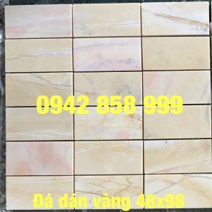 Đá dán hồng vàng 48x98-Mosaic Hồng vàng 48x98