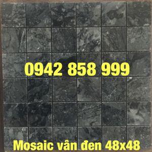 Đá dán vân đen 48x48 - Mosaic Vân đen 48x48