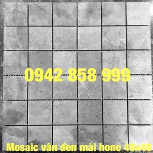 Đá dán vân đen mài hone 48x48 - Mosaic Vân đen Mài hone 48x48