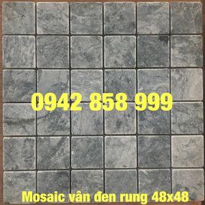Đá dán vân đen rung 48x48 - Mosaic vân đen rung 48x48