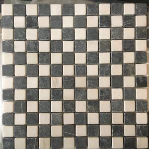 Đá dán trắng điểm đen 23x23